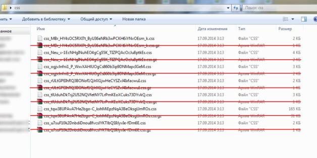 Удалите все файлы с расширением .gz